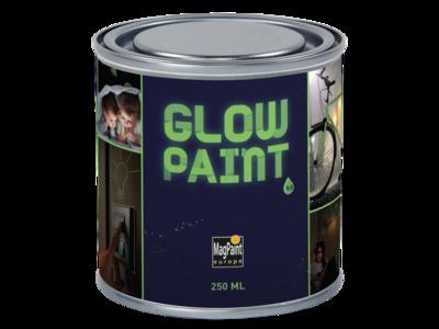Glow in the Dark Wand und Materialfarbe